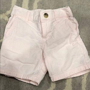 Janie and Jack pink seersucker boys shorts